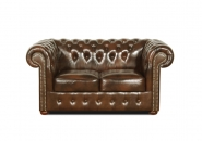 15/ Chesterfield Classic  ,sofa 3 osobowa skóra naturalna